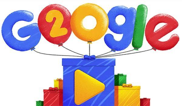 Google le doodle 2018 pour fêter ses 20 ans